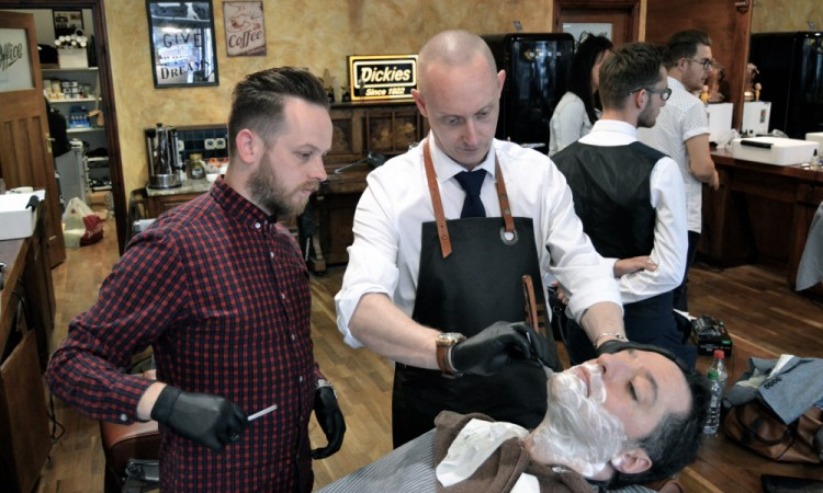 Barbers Learn The Sharp Edge of Shaving at Savills
