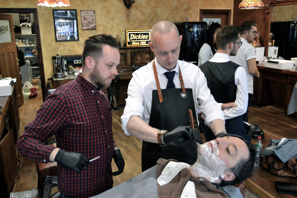 Barber Open Sunday : Barbers Learn The Sharp Edge of Shaving at Savills Savills Barbers